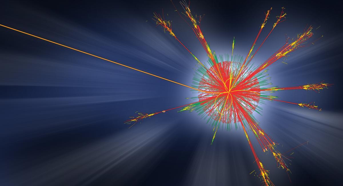Collision event in CERN's ATLAS detector